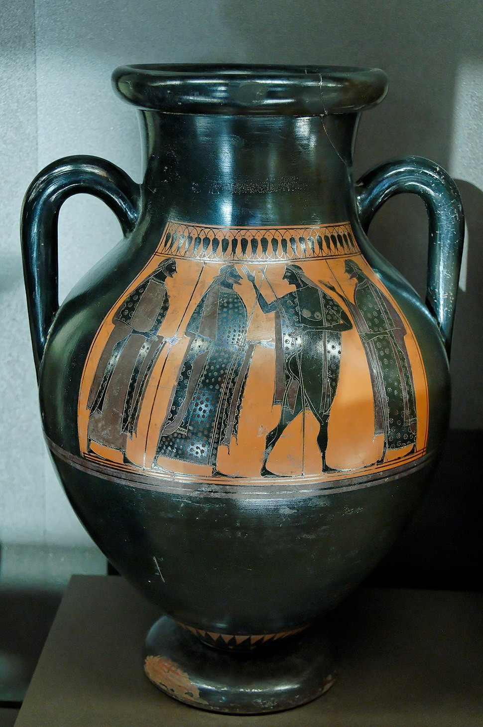 narrow neck vase of typology of greek vase shapes howling pixel pertaining to warrior departure louvre f22