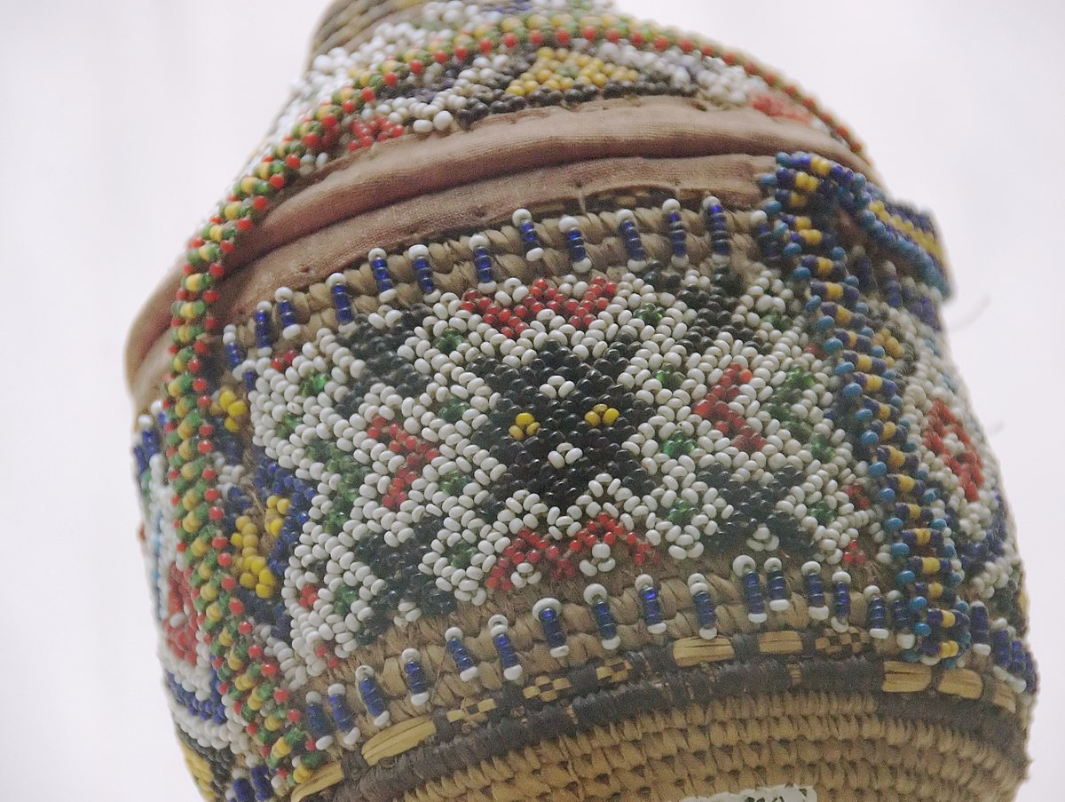 Native American Indian Vases Of Beadwork Wikipedia Pertaining to 1200px Beadwork On Container 2131611625