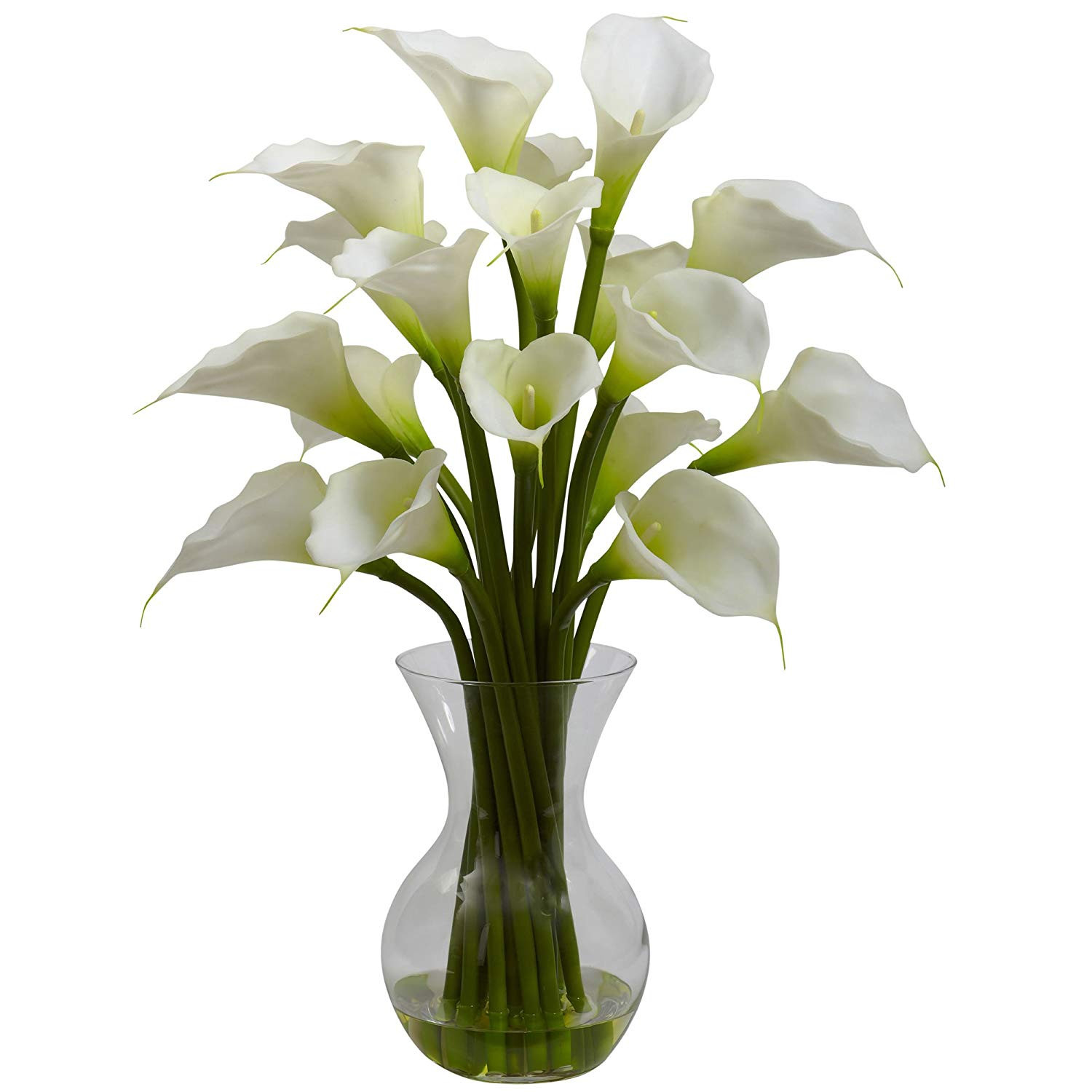 Natural Stone Ikebana Vases Of Amazon Com Nearly Natural 1299 Cr Galla Calla Lily with Vase with Regard to Amazon Com Nearly Natural 1299 Cr Galla Calla Lily with Vase Arrangement Cream Home Kitchen