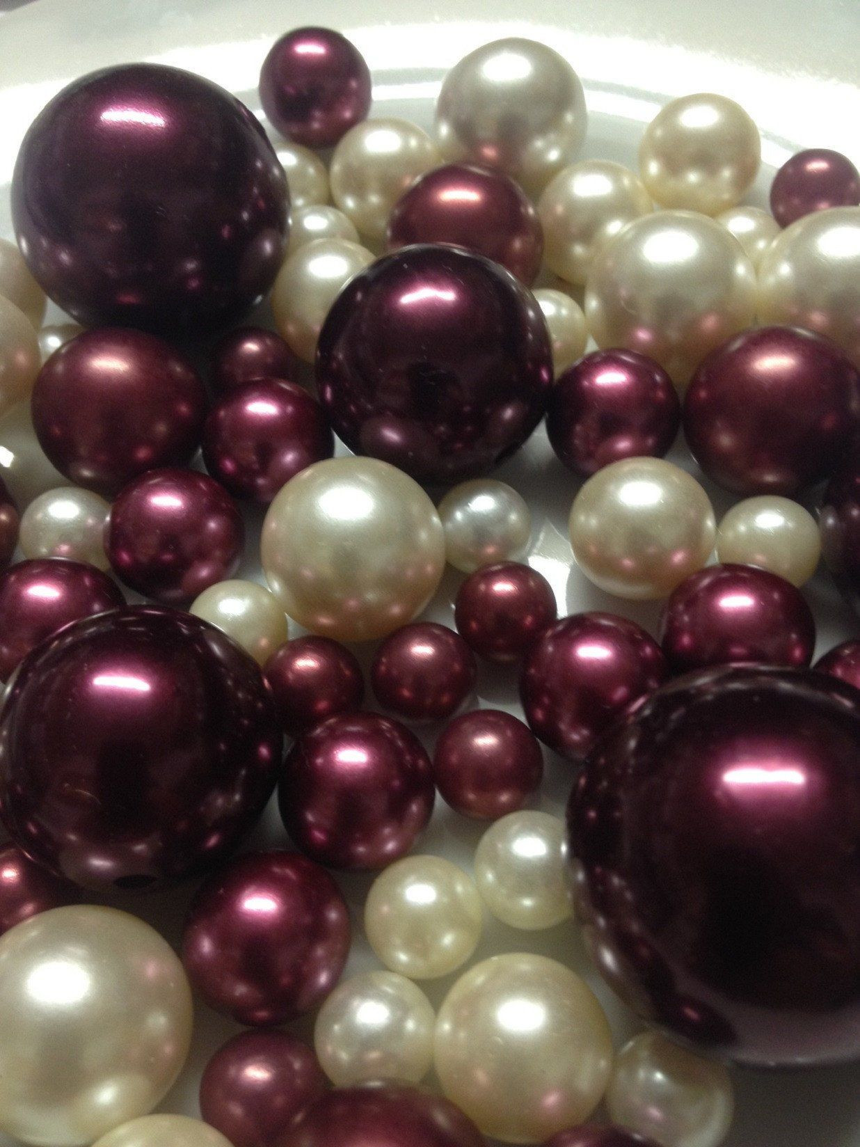 nautical vase filler of burgundy and ivory pearls vase filler pearls pearl table scatters pertaining to burgundy and ivory pearls vase filler pearls pearl table scatters diy floating pearl