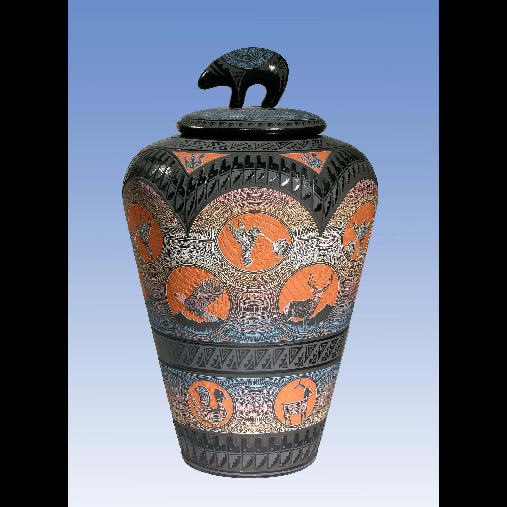 navajo horsehair pottery wedding vase of marvin blackmore durango co http www blackmorepottery org throughout marvin blackmore hand etched pottery native american ceramics bear