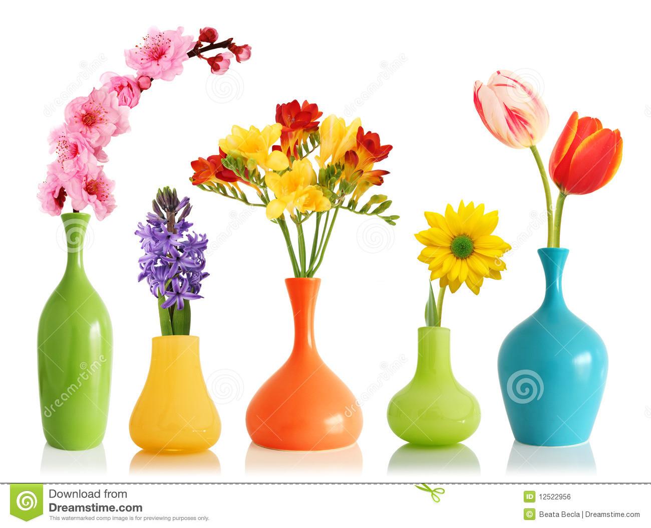 navy blue flower vases of spring flowers in vases stock photo image of gerber 12522956 with spring flowers in vases
