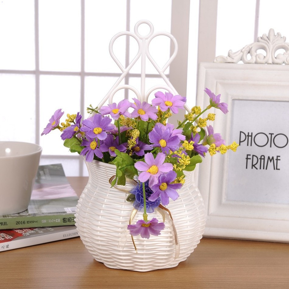 new beetle flower vase of aliexpress com buy flower hanging basket vase artificial rattan for getsubject aeproduct