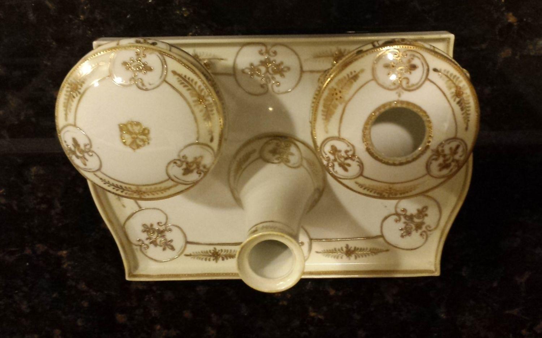 nippon moriage vase of antique morimura nippon japan gold gilded moriage porcelain dresser with antique morimura nippon japan gold gilded moriage porcelain dresser vanity set by katsvintaget