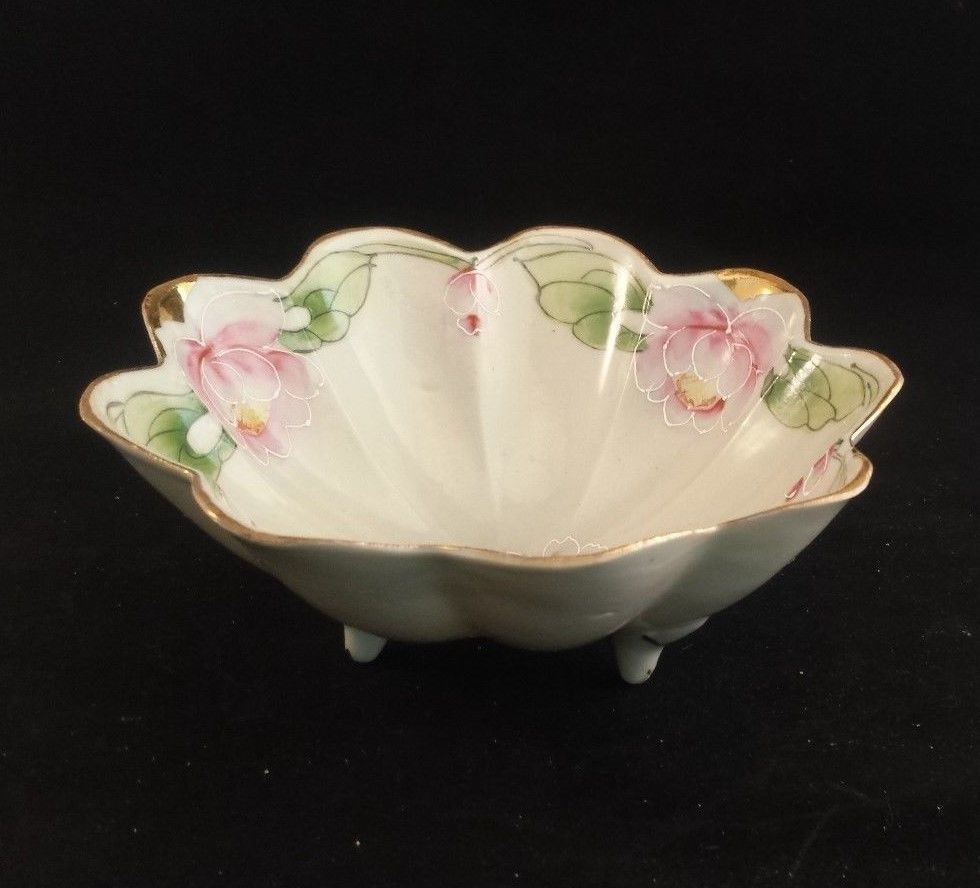 nippon moriage vase of nippon morimura hand painted pink rose moriage gilt hat with regard to vintage the jonroth studios nippon bowl hand painted pink roses footed scalloped