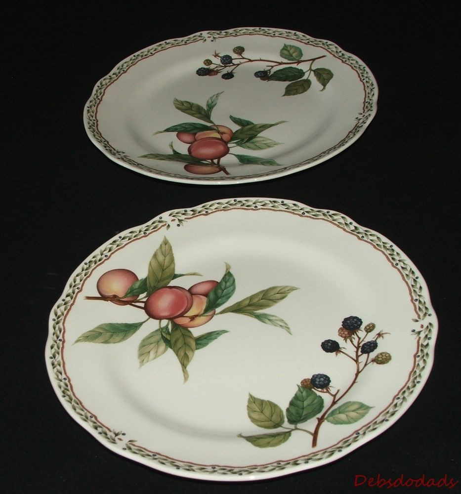 noritake bone china vase of two collectible noritake royal orchard 9416 fruit pattern china in two collectible noritake royal orchard 9416 fruit pattern china dinner plates noritake