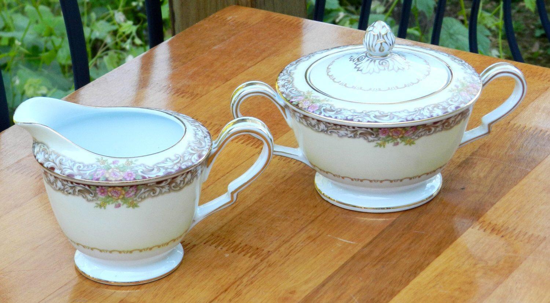 noritake vase patterns of vintage noritake cream and sugar bowls harmony pattern 3906 circa with regard to vintage noritake cream and sugar bowls harmony pattern 3906 circa occupied japan 00278 by nwattic on
