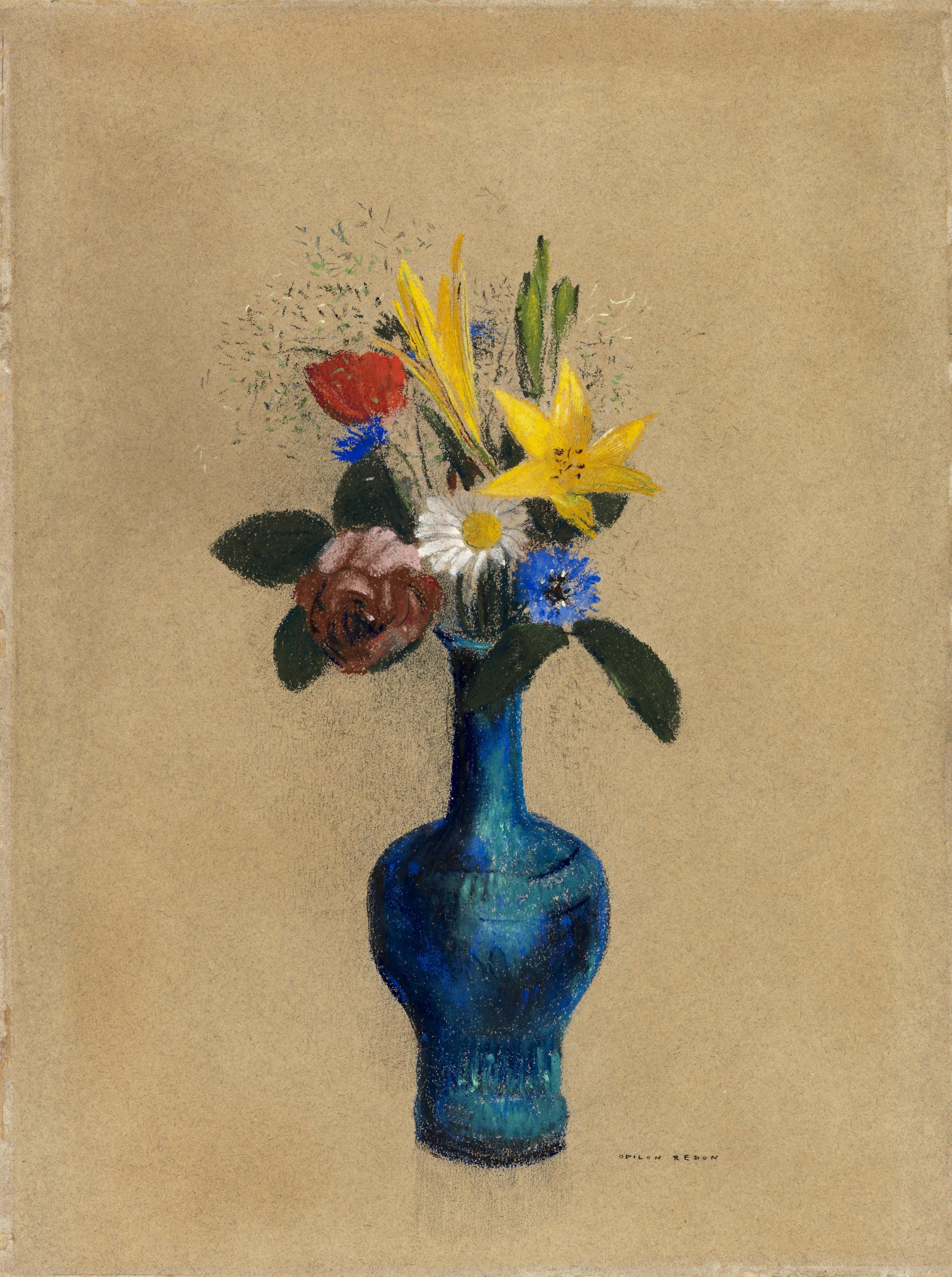 odilon redon vase of flowers of lesmeubles vase pour une fleur lesmeubles pertaining to galerie michael haas odilon redon bouquet de fleurs dans un vase bleu ca 1900