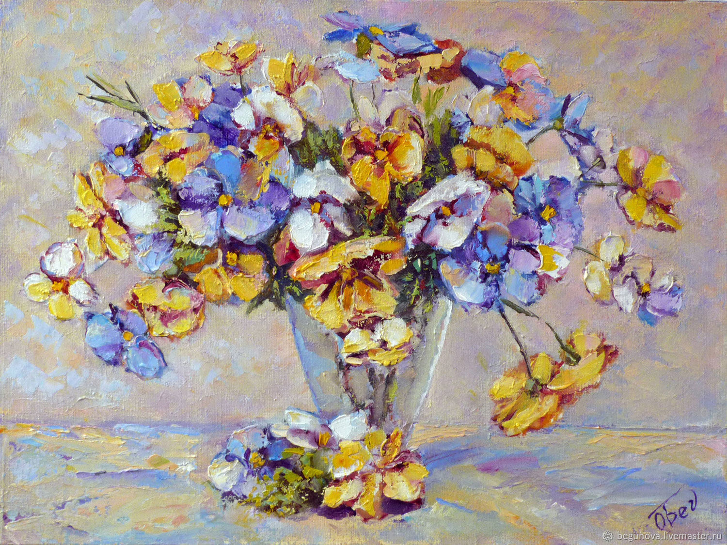 oil paintings of flowers in a vase of oil painting flowers pansypansies painting shop online on within flower paintings handmade livemaster handmade buy oil painting flowers pansy