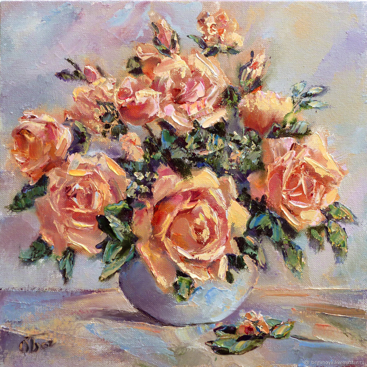 oil paintings of flowers in a vase of oil painting flowers roses painting the roses enjoy the picture with flower paintings handmade livemaster handmade buy oil painting flowers roses painting the