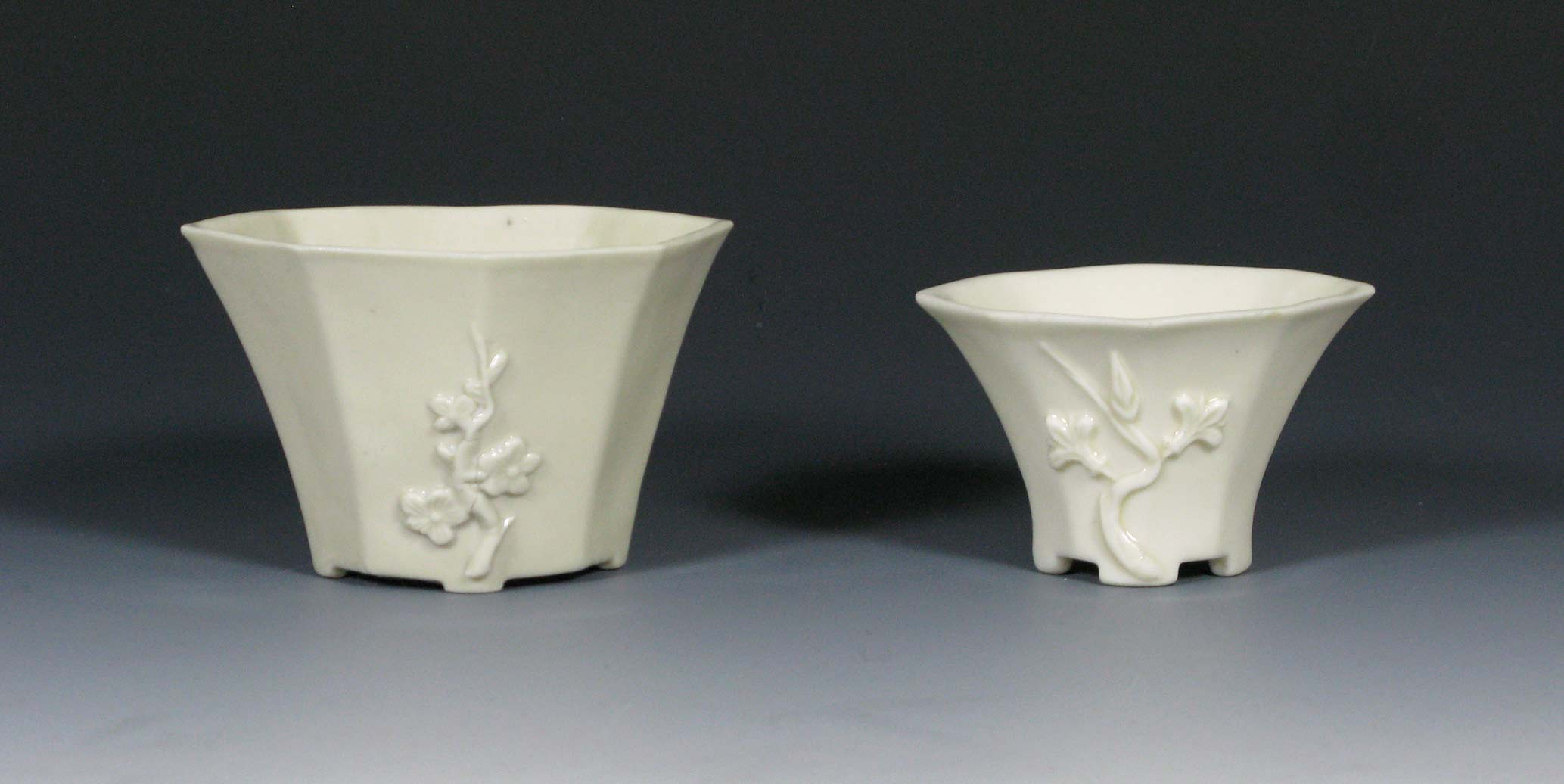old oriental vases of white porcelain collection in chinese dehua blanc de chine cups
