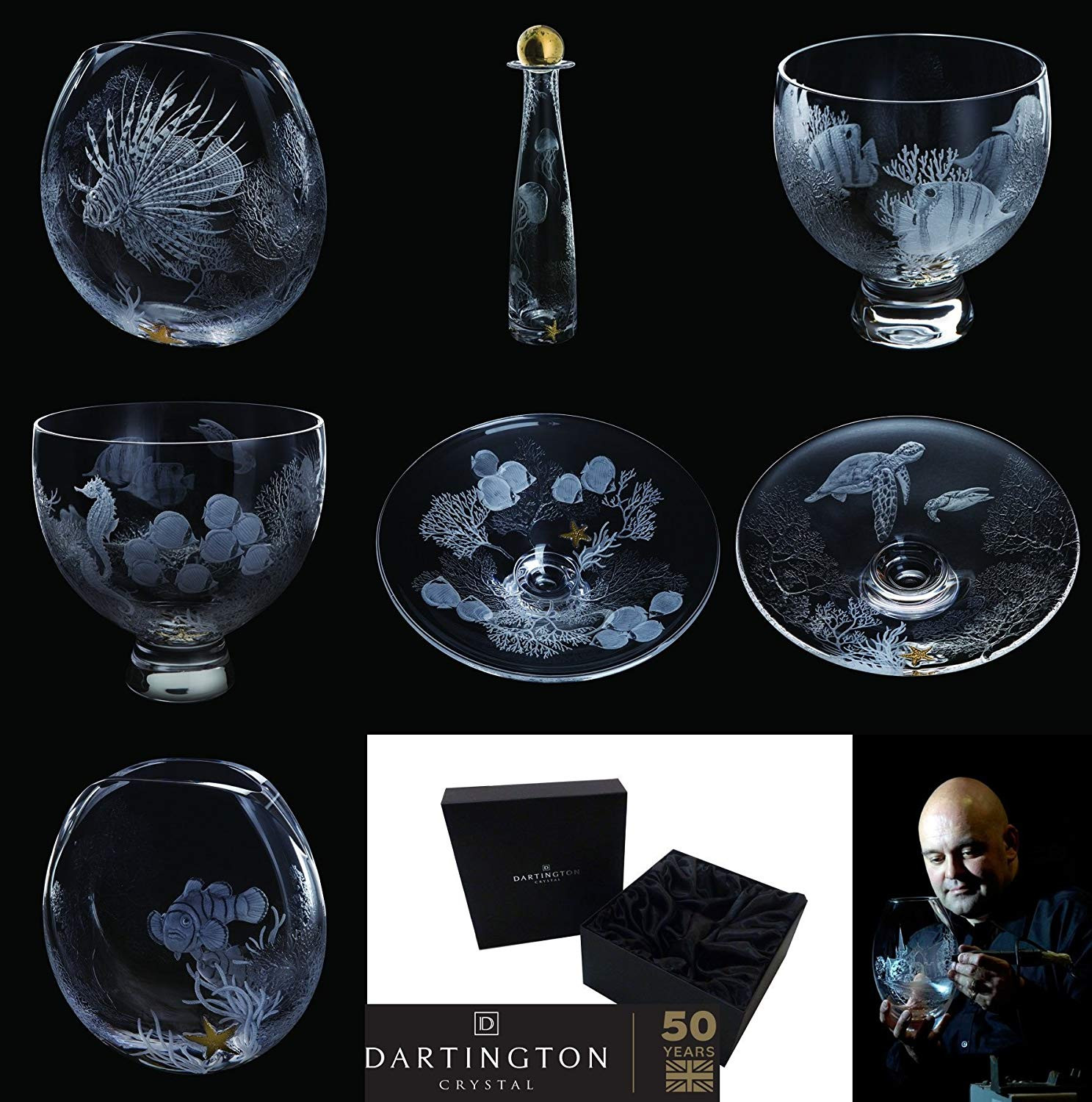 old waterford crystal vase of dartington crystal tall large seahorse glass vase wedding home party throughout master engraver nick davey has used the tropical undersea world as the inspiration for this stunning collection of hand engraved studies