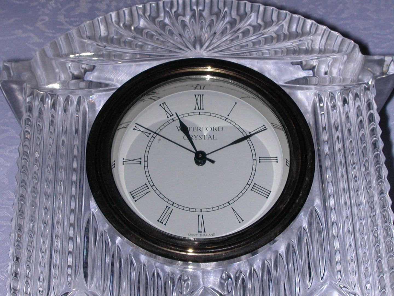 Old Waterford Crystal Vase Of Large Waterford Crystal Westminster Quartz Mantle Table Clock Runs within Large Waterford Crystal Westminster Quartz Mantle Table Clock Runs Paper Label 1838336257