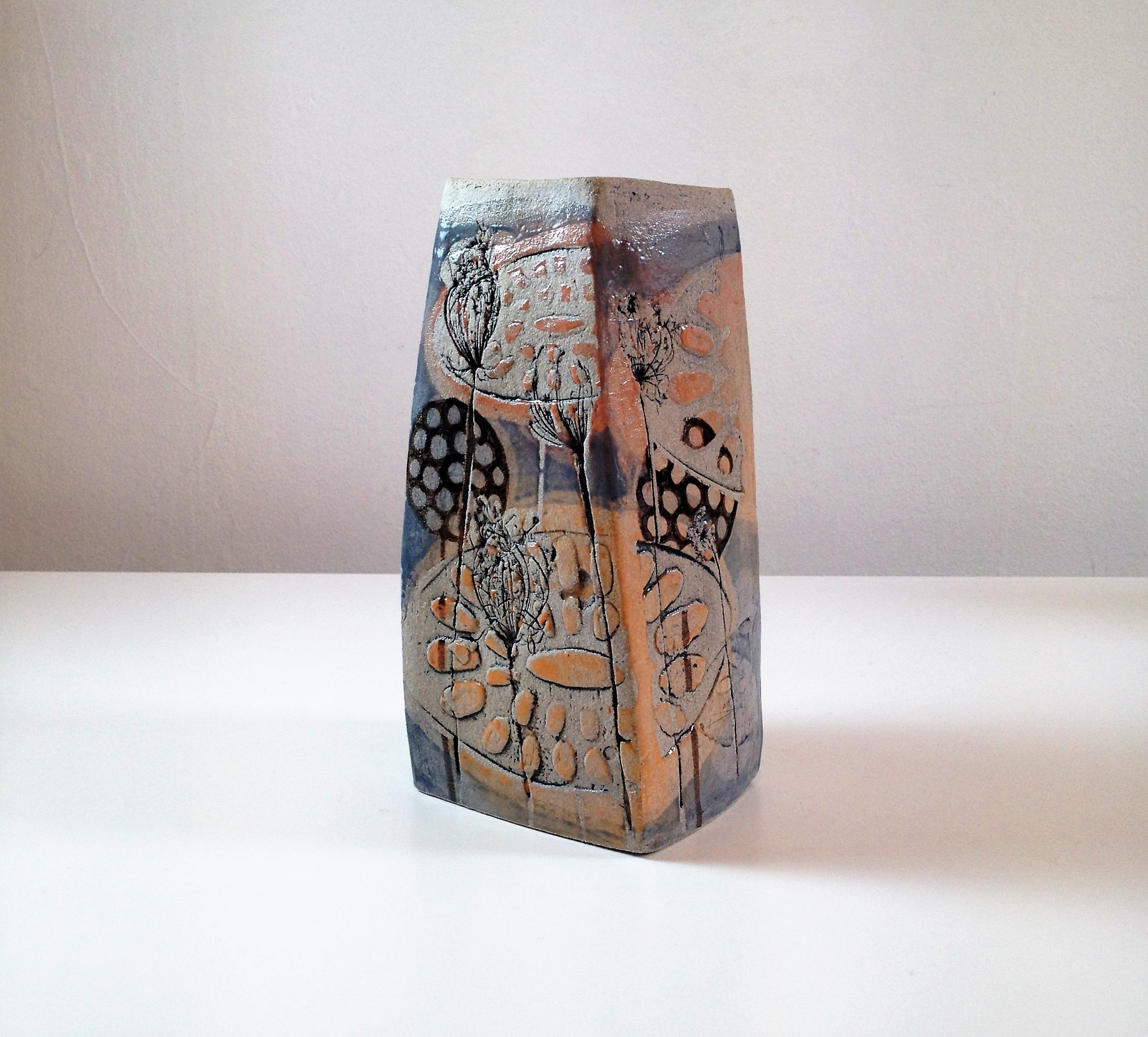 orange ceramic vase of mollie brotherton square vase pink and blue sarah wiseman gallery pertaining to small square vase