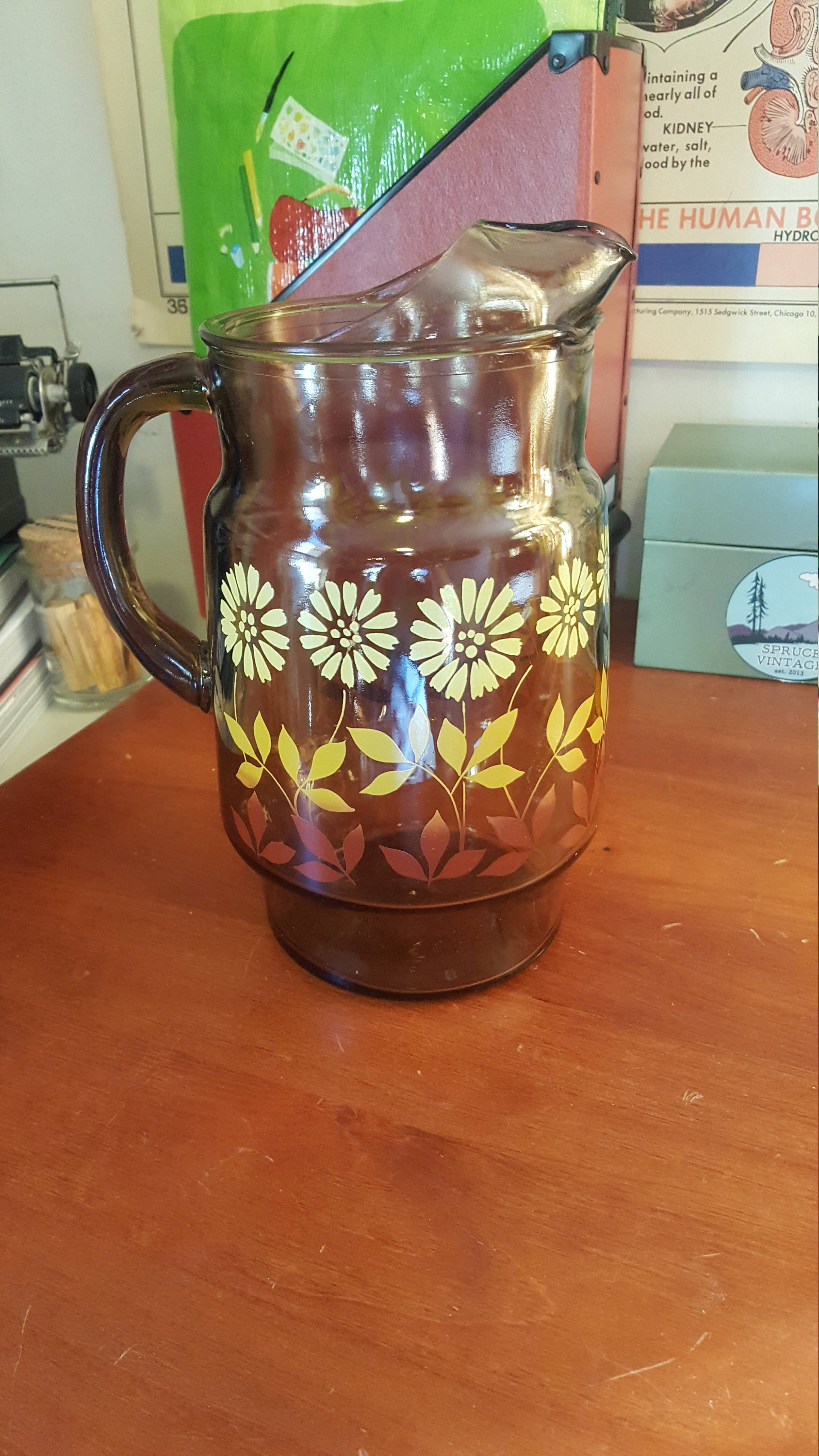 """orange glass gems for vases of mid century glass juice pitcher throughout dŸ""""Žzoom"""