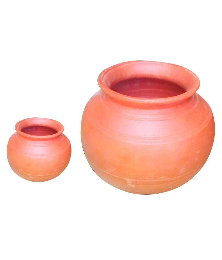 Orange Pottery Vase Of Emart Departmental Store Brown Mud Matka Set Of 2 Buy Online at with Emart Departmental Store Brown Mud Matka Set Of 2