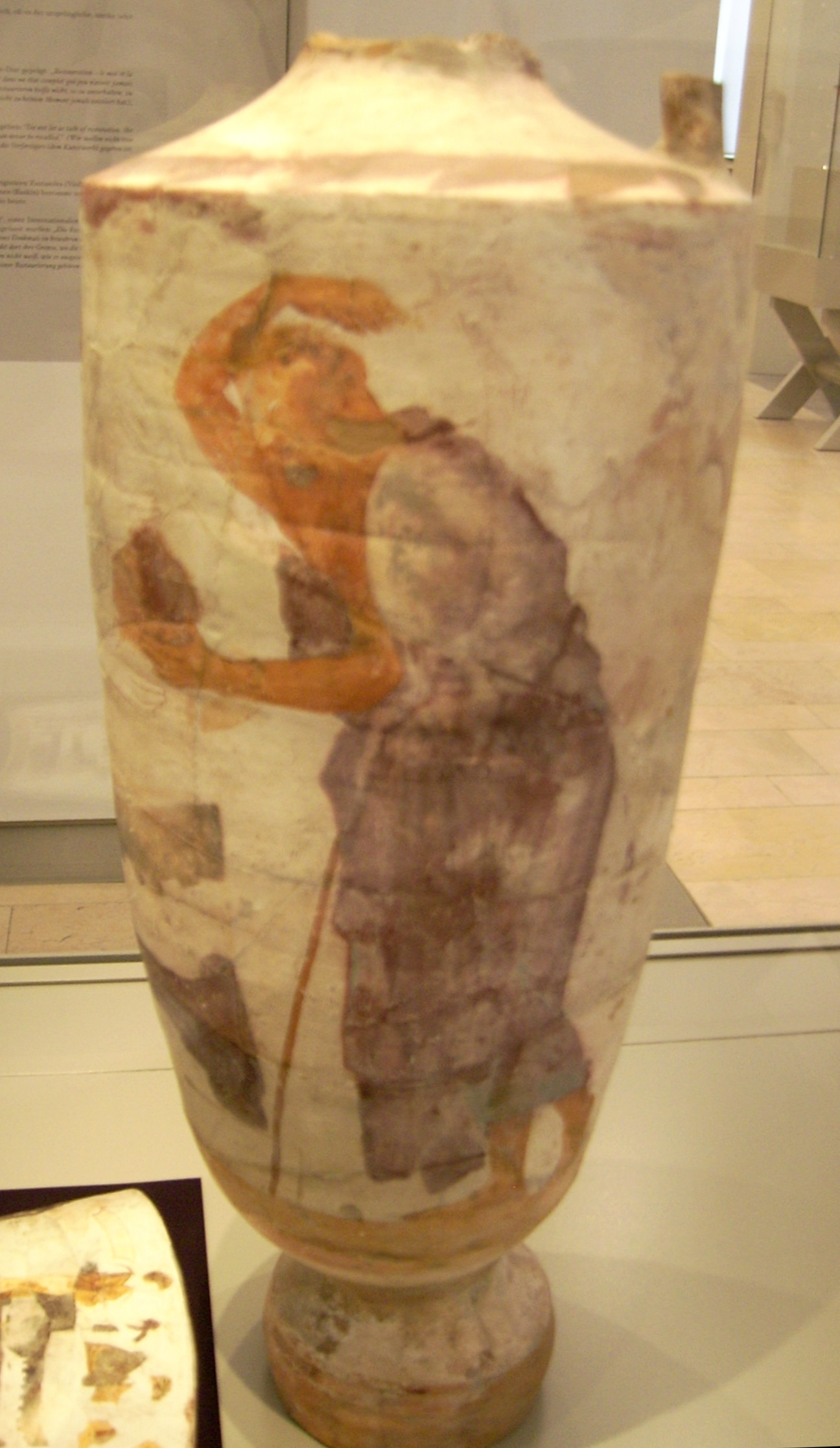 orange pottery vase of filelekythos by the group of the huge lekythoi antikensammlung within filelekythos by the group of the huge lekythoi antikensammlung berlinf 2684 3