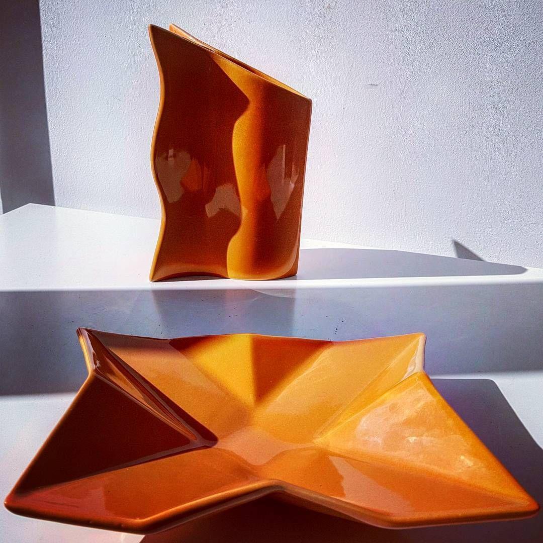 orange vase set of orange asa keramik orange geometric bowl vase 80s asa futura with regard to orange asa keramik orange geometric bowl vase 80s asa