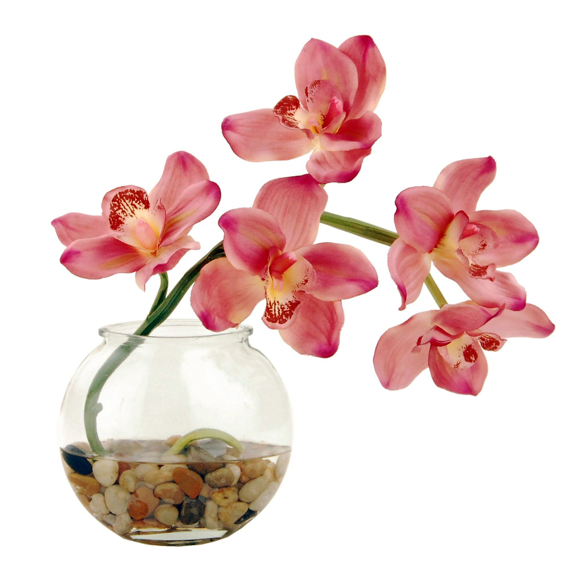 orchid arrangements in glass vases of artificial orchid arrangement pink 14in lcg florals in artificial orchid arrangement pink 14in lcg florals