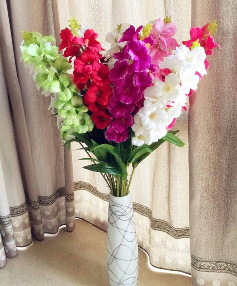 orchid flower arrangement vase of aliexpress com buy 6pcs hibiscus flower 18 heads 93cm 36 61 fake for aliexpress com buy 6pcs hibiscus flower 18 heads 93cm 36 61 fake gladiolus for wedding centerpieces artificial decorative flowers from reliable hibiscus