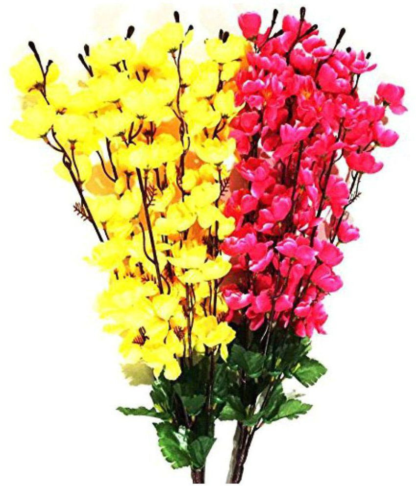 orchid vase life of kaykon orchids multicolour artificial flowers bunch pack of 2 buy inside kaykon orchids multicolour artificial flowers bunch pack of 2