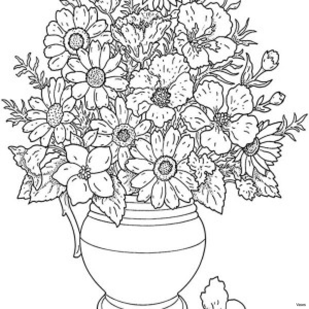 Orchid with Vase Of Coloring Pages Of Flowers Fun Time within Coloring Pages Of Flowers 6 E Cool Vases Flower Vase Coloring Page Pages