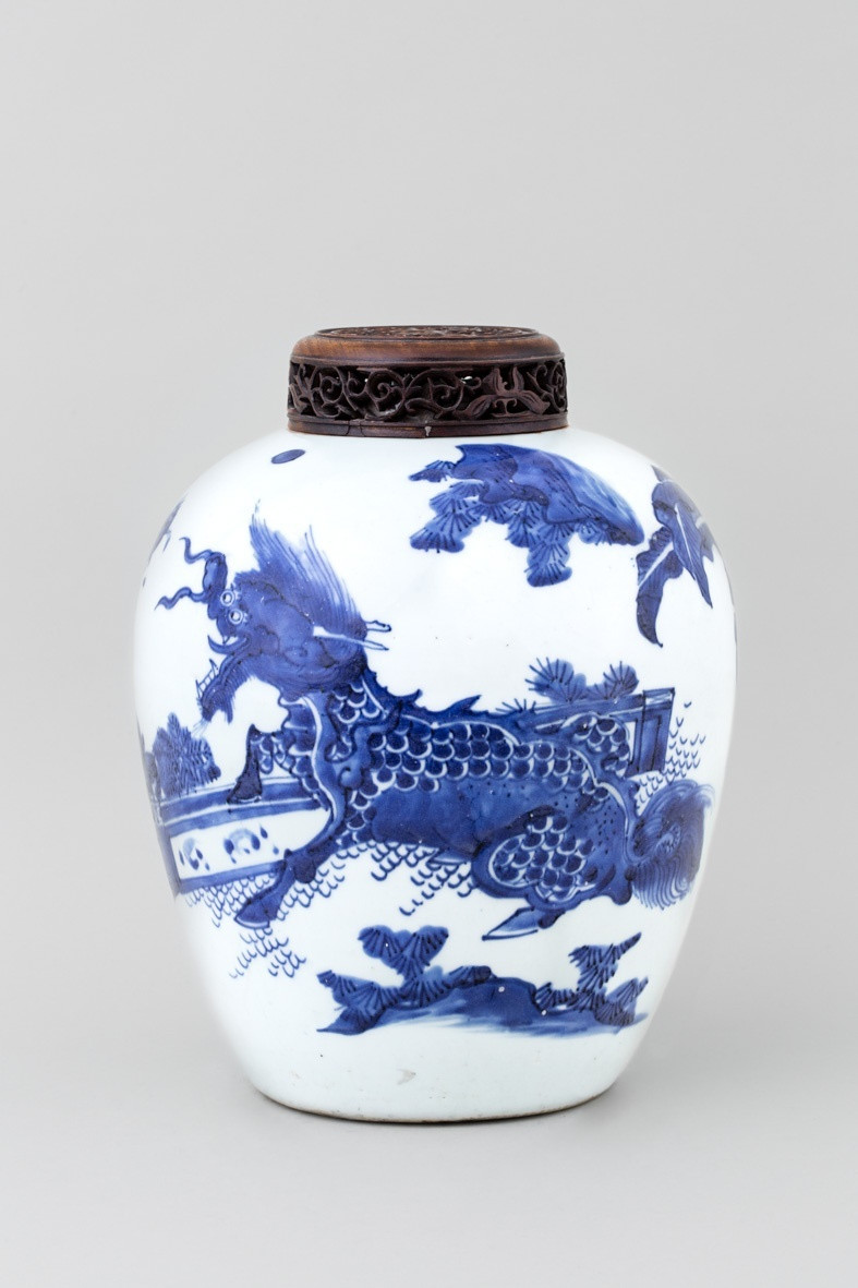 Oriental Porcelain Vase Of A Blue and White Chinese Transitional Vase Transitional 17th Regarding A Blue and White Chinese Transitional Vase