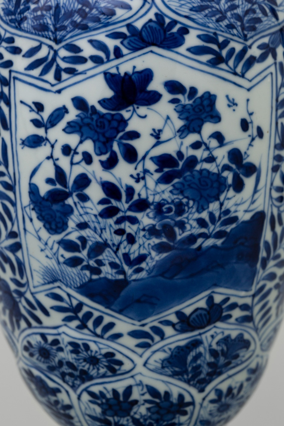 oriental porcelain vase of a chinese blue and white baluster vase and cover kangxi 1662 172 pertaining to a chinese blue and white baluster vase and cover