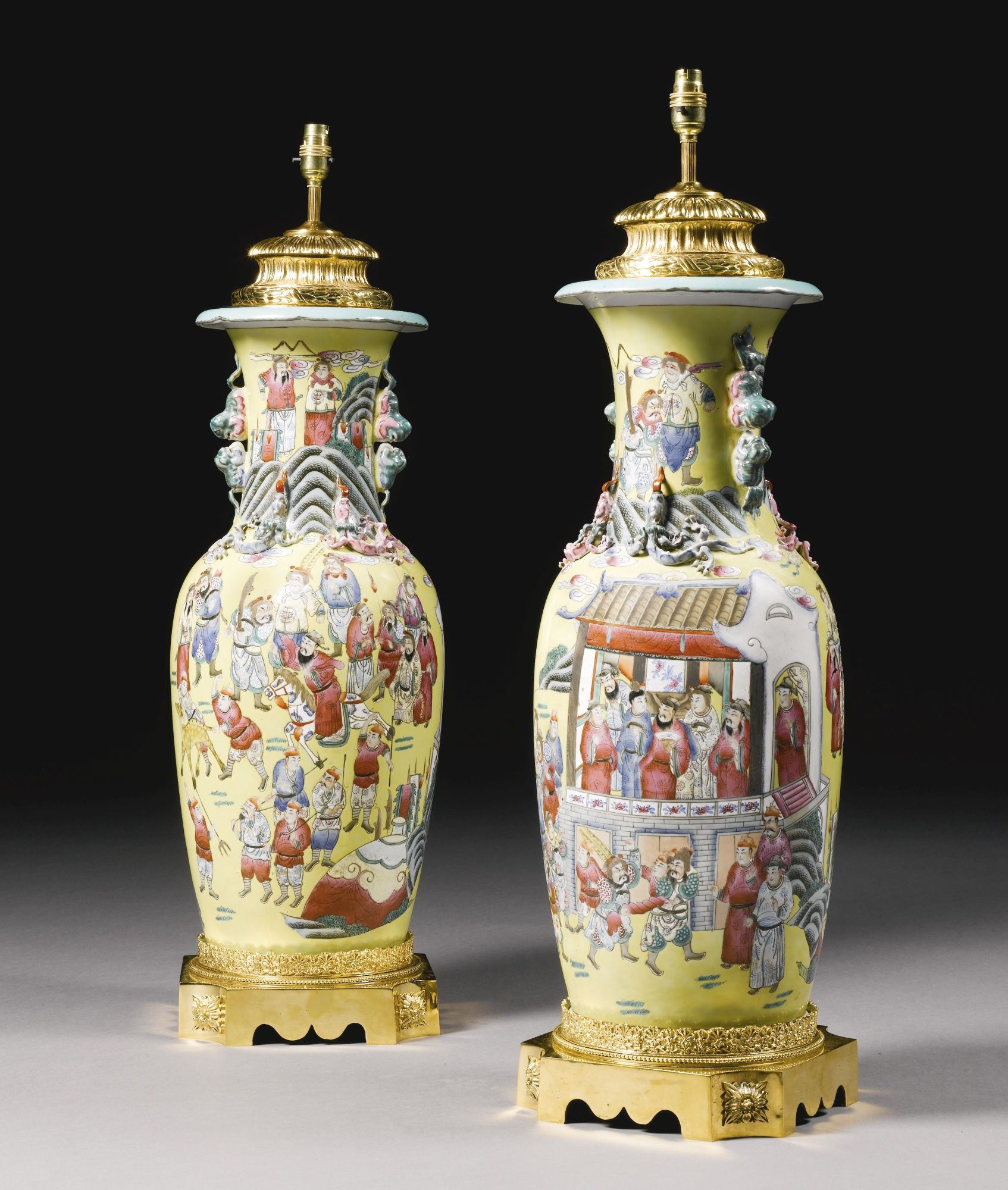 oriental porcelain vase of a pair of chinese porcelain vases sothebys chinese art for a pair of chinese porcelain vases sothebys