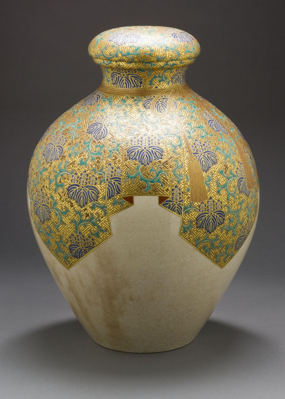 oriental vase appraisal of satsuma ware wikipedia with 1200px tea storage jar with paulownia and thunder pattern lacma m 2007 130a b
