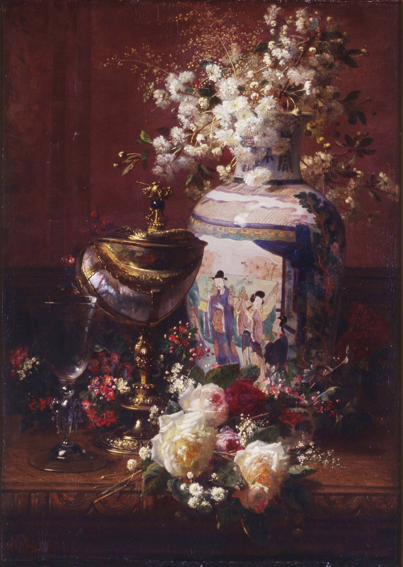 oriental vase markings of jean baptiste robie still life with japanese vase by jean with still life with japanese vase by jean baptiste robie