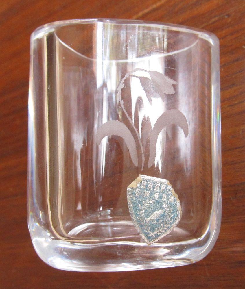 orrefors vase vintage of orrefors toothpick holder miniature vase engraved tulip foil label pertaining to 0de10c41c26afc148e166d31e48cea90