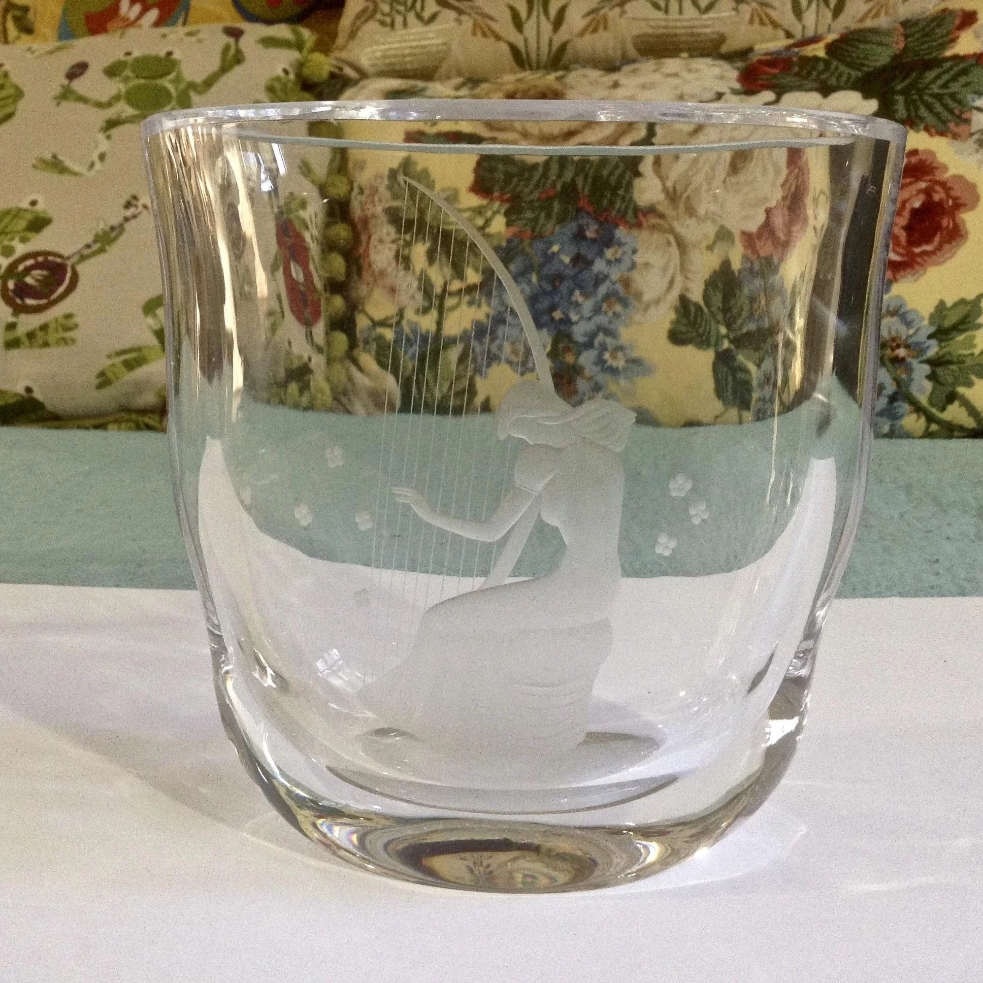 orrefors vase vintage of vintage orrefors glassworks cut and etched crystal art deco woman pertaining to click to expand a· vintage orrefors glassworks cut and etched