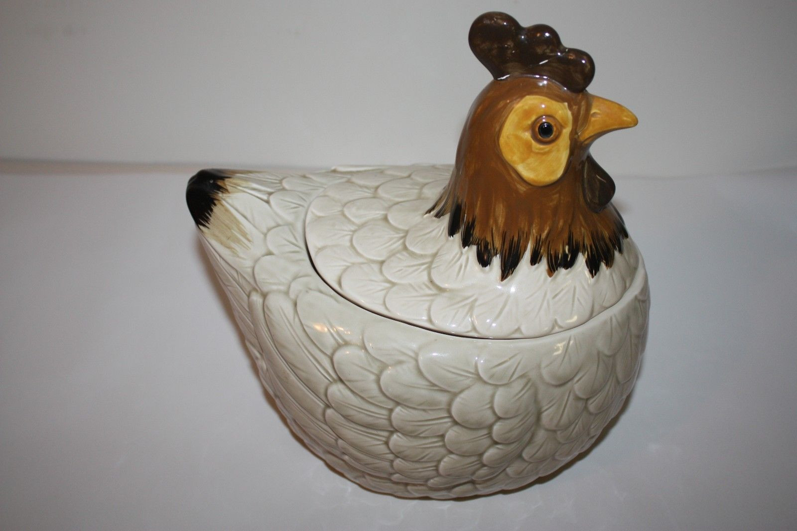 Otagiri Japan Bud Vase Of Vintage Otagiri 1982 Rooster Hen Chicken Cookie Jar Ceramic Hand Throughout Vintage Otagiri 1982 Rooster Hen Chicken Cookie Jar Ceramic Hand Painted 8 Inch 1 Of 12 Vintage Otagiri