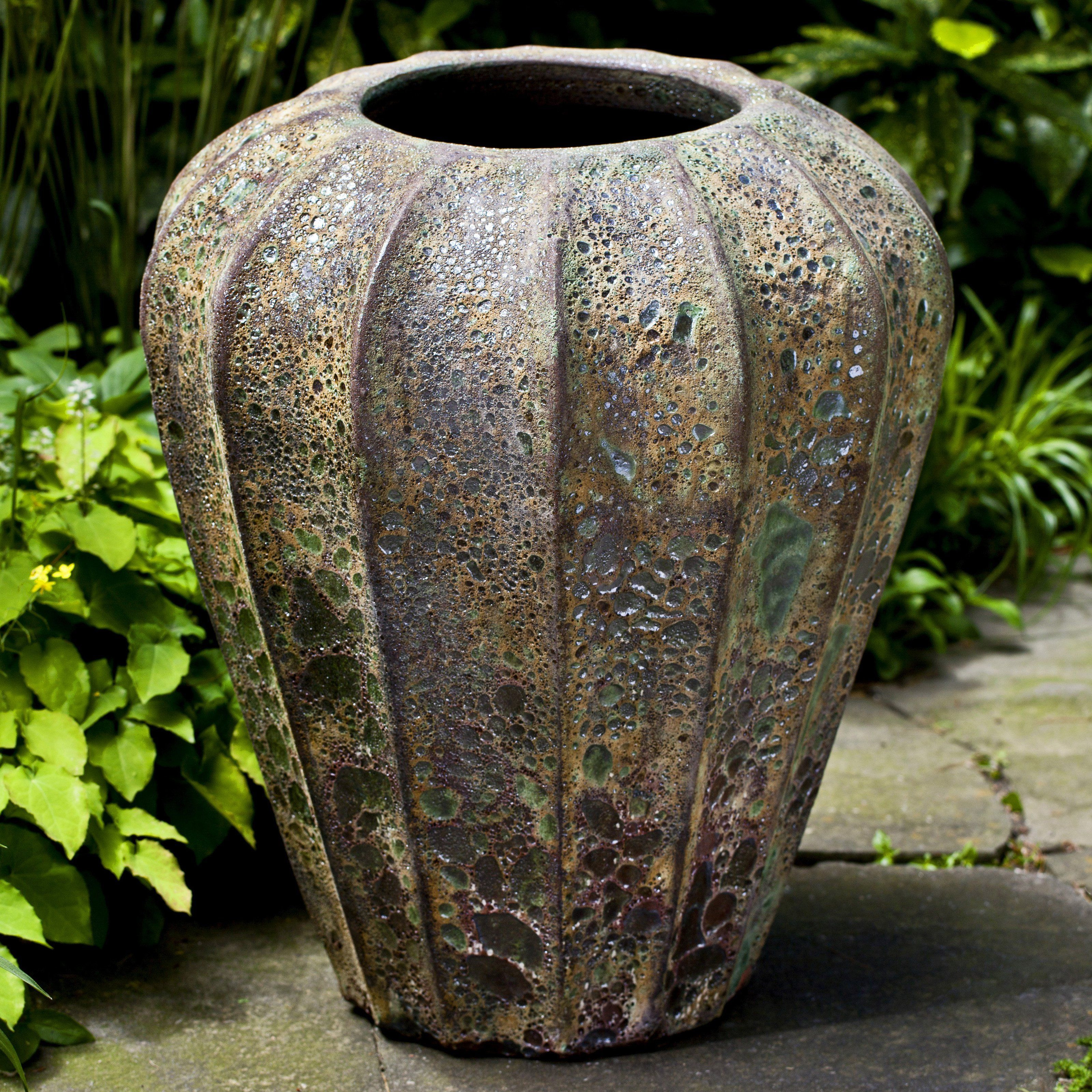 outdoor ceramic vase fountain of campania international balareas jar angkor green mist from with regard to campania international balareas jar angkor green mist outstanding terra cotta construction along with distressed detailing on the exterior make this