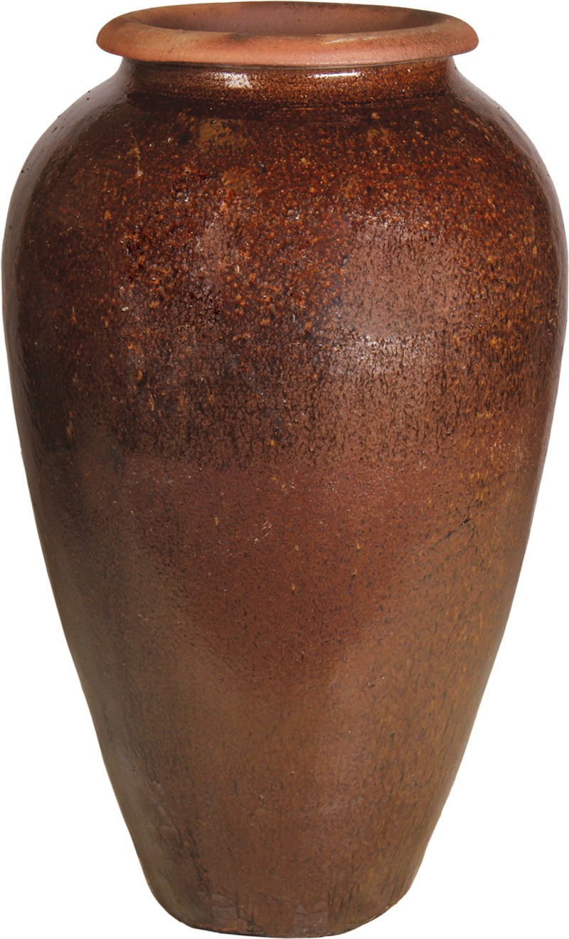 outdoor ceramic vase fountain of tapered wine jar within agr 13 bor plainv2