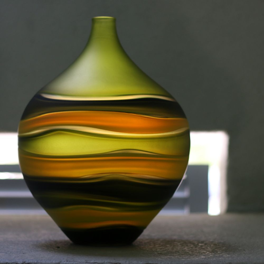 oval glass vase of daily dose of calm art glass vase by cal breed art glass vase throughout daily dose of calm art glass vase by cal breed