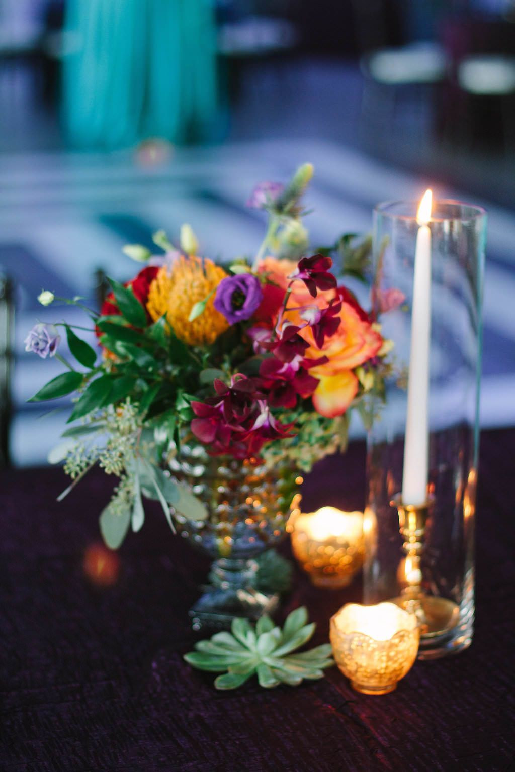 oversized glass vases wholesale of whimsical jewel toned waterfront florida wedding succulent in wedding centerpieces