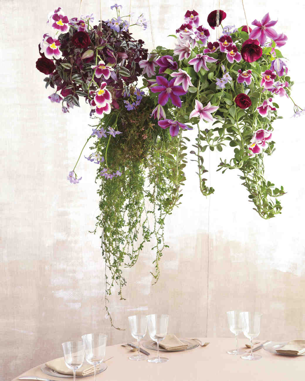 pansy flower ring vase of 17 overhead wedding decoration ideas we love martha stewart weddings with regard to high wire act