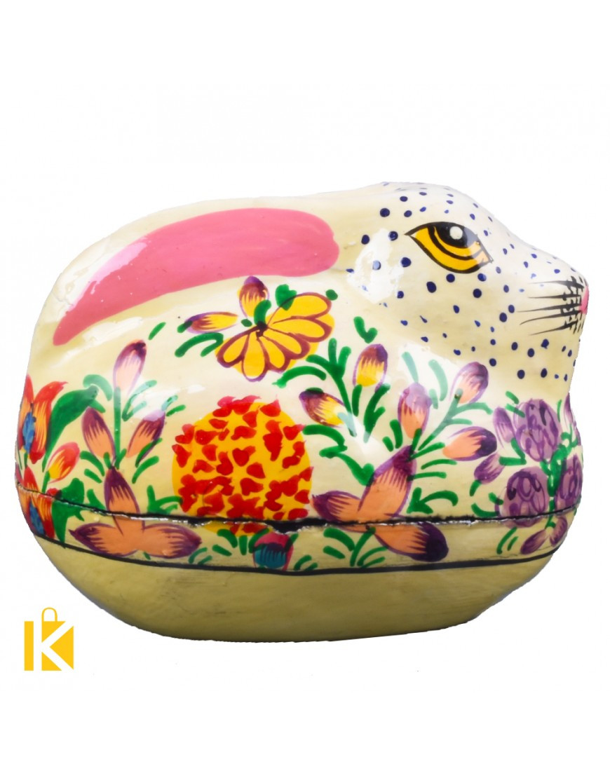 paper mache flower vase of hand crafted paper mache mini rabbit boxes pair in kk1224 13 870x1110