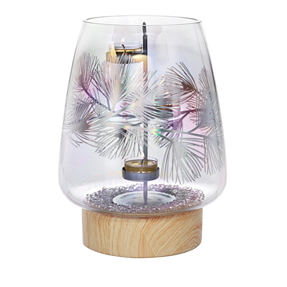 Partylite Hurricane Vase Of Lustrous Pine Hurricane with Fh18 P93142 Web