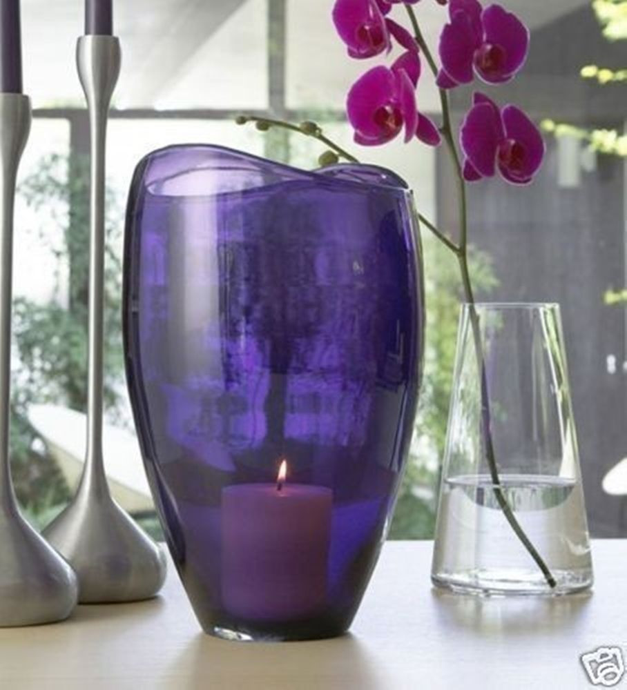 partylite hurricane vase of partylite amethyst purple large glass hurricane vase candle holder for partylite amethyst purple large glass hurricane vase candle holder rare nib partylite hurricanecandleholderorvase