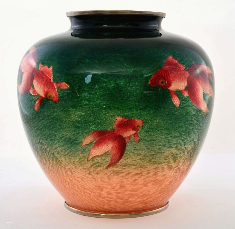 peach glass vase of outstanding goldfish on cloisonne ginbari green peach vase 7 3 h 7 inside outstanding goldfish on cloisonne ginbari green peach vase 7 3 h 7 5 d and fishing urns snap
