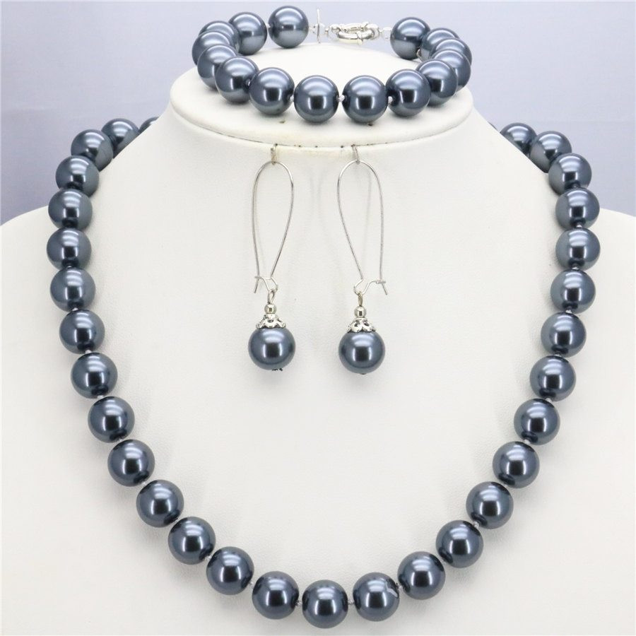 pearl vase fillers bulk of ₩wholesale accessories 10mm silver shell pearl beads necklace throughout wholesale accessories 10mm silver shell pearl beads necklace bracelet earring sets jewelry making design christmas gifts girls
