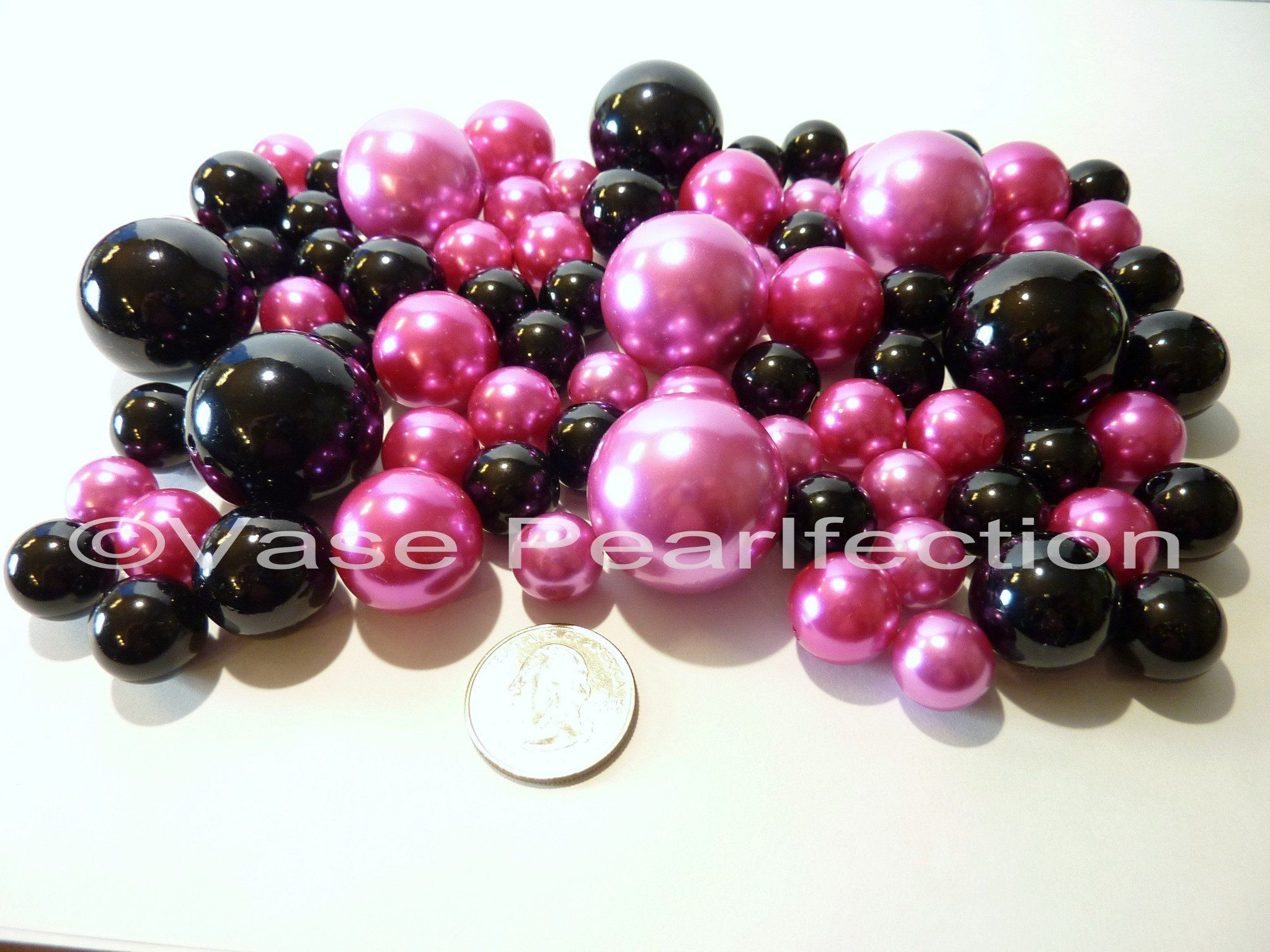 pearl vase fillers of all red pearls jumbo assorted sizes vase fillers for dec for valentine hot pink black pearls jumbo assorted sizes vase fillers for decorating centerpieces