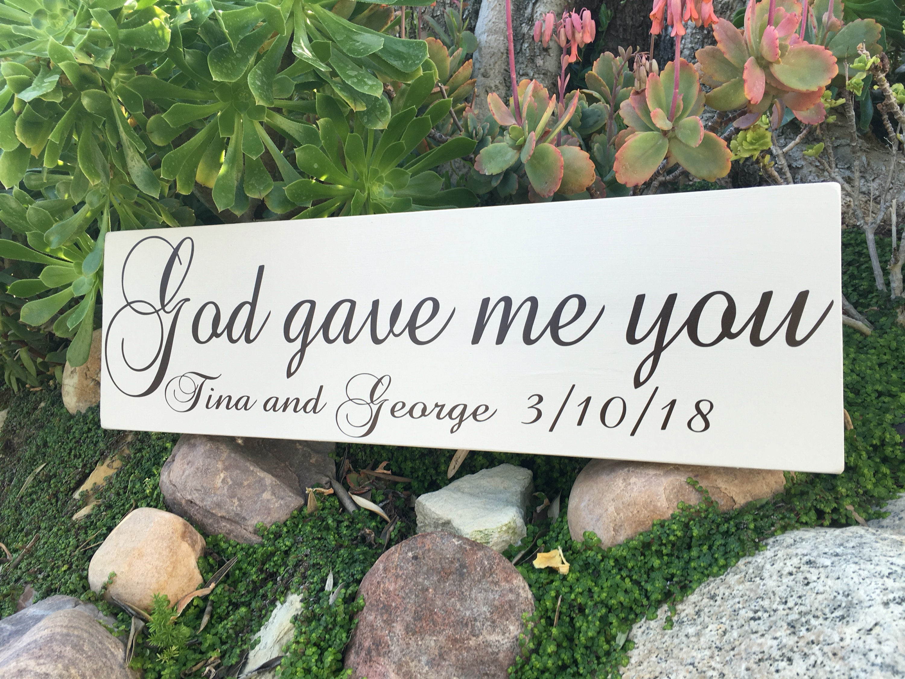 "Personalized Vase Wedding Gift Of God Gave Me You Sign God Gave Me You Wood Sign Personalized Etsy within DŸ""Žzoom"
