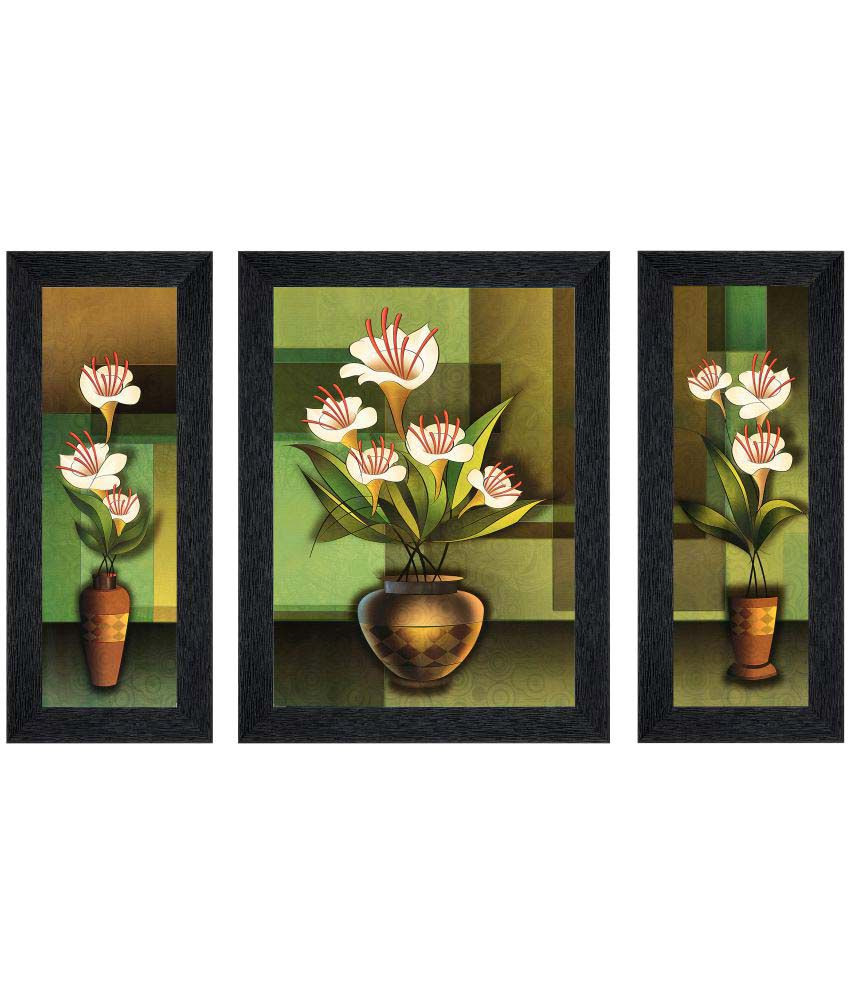 Picture Frame Flower Vase Of Jaf Matte Flower Painting Mdf Painting with Frame Set Of 3 Buy Jaf Pertaining to Jaf Matte Flower Painting Mdf Painting with Frame Set Of 3