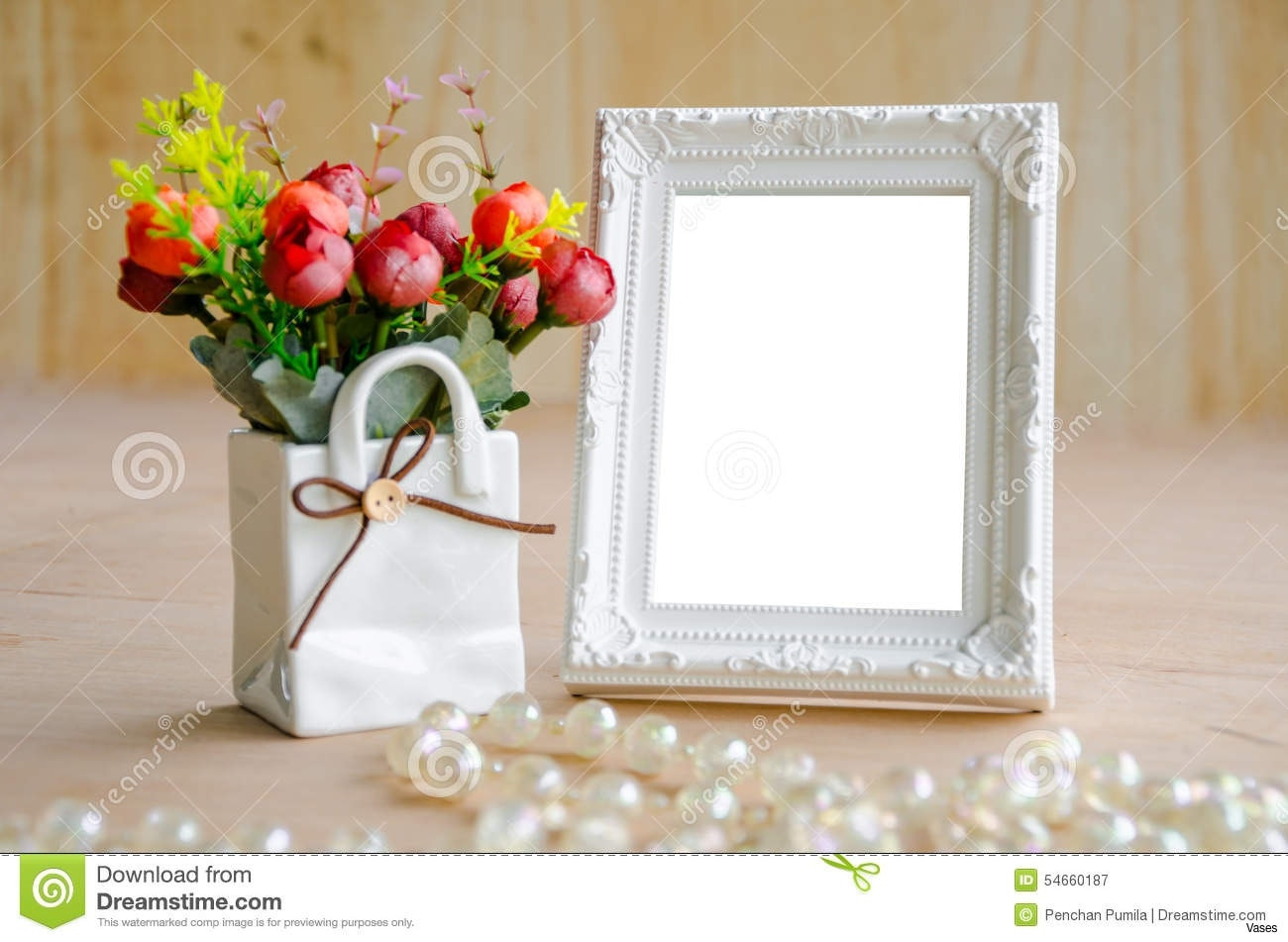 picture frame vase of luxury best out of waste cd photo frame photo frames collection regarding flowers vase blank white picture frame wooden background clipping path 54660187h vases royalty free stock photoi
