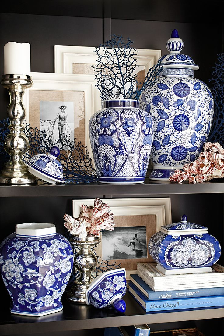 pier 1 blue vase of 663 best artful arrangements images by suzy kelly on pinterest intended for blue and white temple jars like these little gems from pier 1 have been a staple