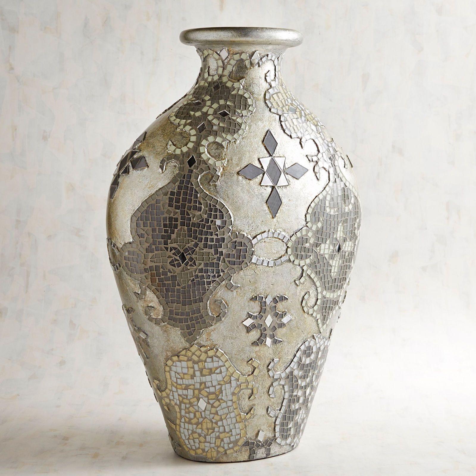 pier 1 blue vase of silver gray mosaic vase mosaic vase and mosaics regarding silver gray mosaic vase pier 1 imports